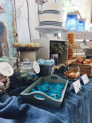 Foto del lateral izquierdo de mesa dulce marinera de Dulce Dorotea
