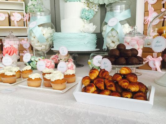 Mesa dulce para bautizo en Valencia de Dulce Dorotea