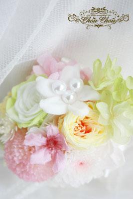 FTW ブートニア ミラコスタ ウェディング 結婚式 桜 花屋 舞浜 プリザーブドフラワー