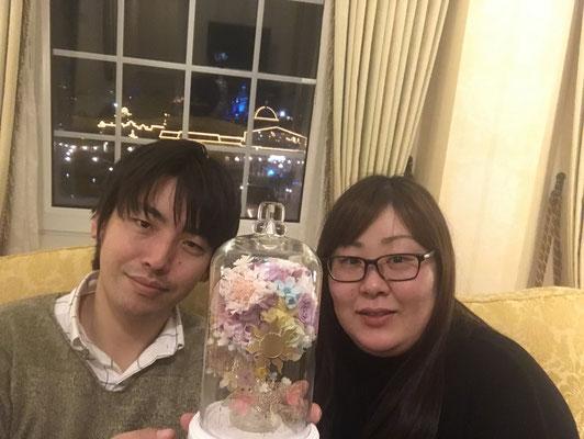 ディズニー プロポーズ 薔薇 ラプンツェル ガラスドーム 花屋 浦安 プリザーブドフラワー配達無料 舞浜