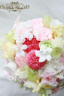 FTW ブーケ ミラコスタ ウェディング 結婚式 桜 花屋 舞浜 プリザーブドフラワー