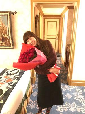 ディズニー プロポーズ 薔薇 花束 花屋 浦安 配達無料 舞浜 生花 プリザーブドフラワー