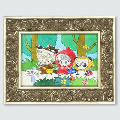 「赤ずきんちゃんとなかまたち 森へピクニック」(うさぎ月夜に星のふね)元絵は付録に使用されたものです