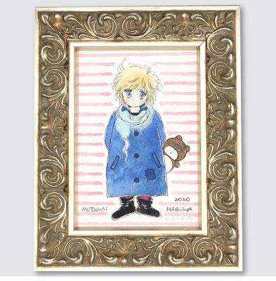 「のみの市ファッション」(小麦畑の三等星)元絵は付録だったか、コミックスのカバーの内側に使用されたものだったか。。