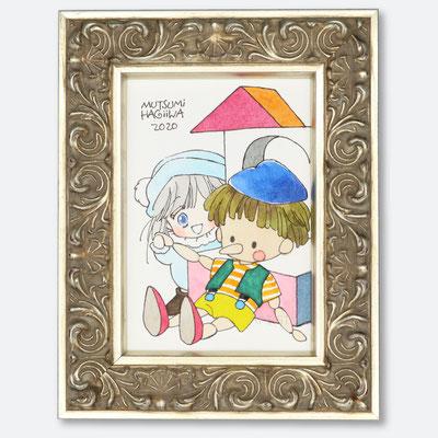 「つみきあそび」(銀曜日のおとぎばなし)元絵は付録のトランプに使用されたものです。