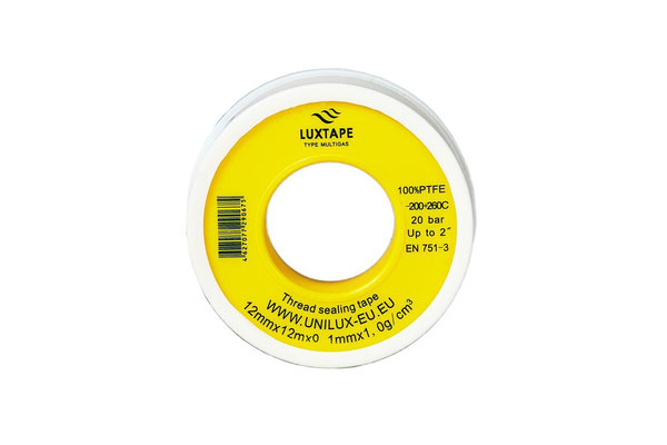LUXTAPE MULTIGAS 12MM X 12M X 0,1MM / 1,0 g/cm3