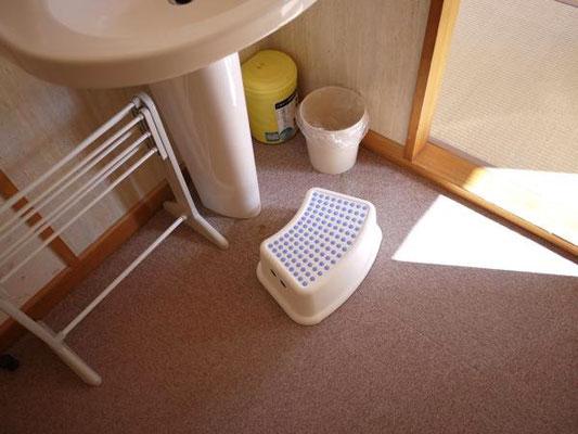 和室洗面台にはステップ台