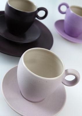 Kaffeegedeck    Tassenhöhe: 8cm      Durchmesser Unterteller: 12,2cm
