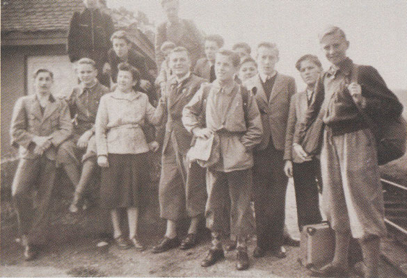 Lehrjahr 1952 auf Freizeit in d. fränk. Schweiz
