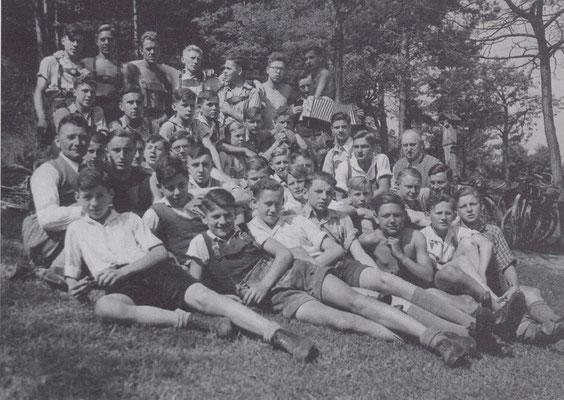 1939 mit Rudi Brand, Karl Ludwig, Otto Schörger, Emil Schliermann, Kurt Walter; Rudi Feser, Hans Häußler