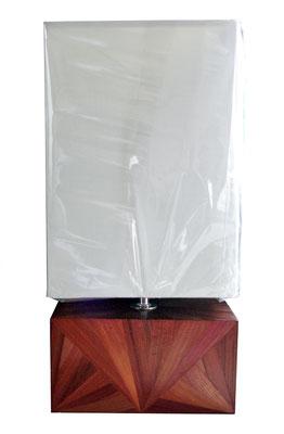 Lampe d'ambiance à poser paille acajou (vendue)