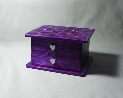 Boîte à bijoux et cristaux Swarovski (commande personnalisée - vendu)