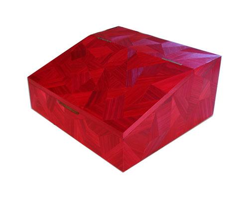 Range couverts motif aléatoire rouge rubis