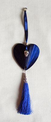 Décoration bleu nuit à suspendre sur une clef, une poignée..(vendue)