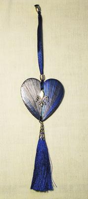 Décoration bleu nuit à suspendre sur une clef, une poignée...