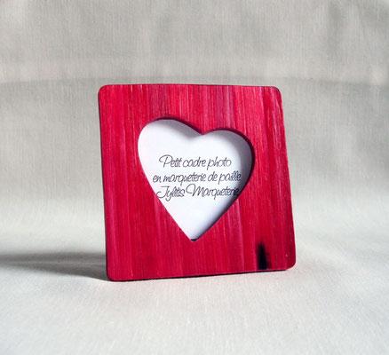 Petit porte photo rouge rubis