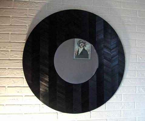 Miroir géant Ø 80 cm motifs chevrons
