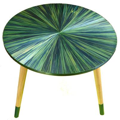 """Plateau de la petite table d'appoint """"le soleil vert"""""""