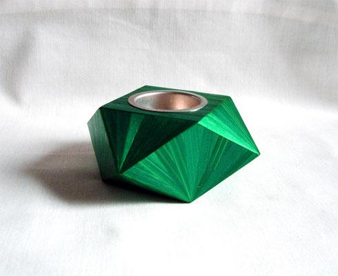 Bougeoir géométrique vert bouteille