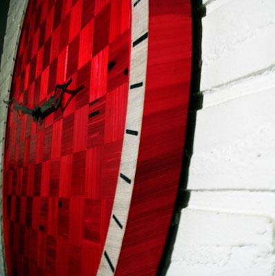 Détail de l'horloge murale
