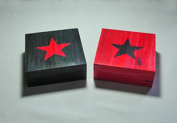 Petites boîtes style rock'n'roll (rouge vendue)