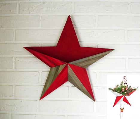 Grande étoile creuse à décorer (vendu)