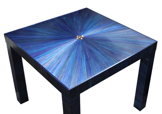 "Table basse ""le Lys Bleu"""