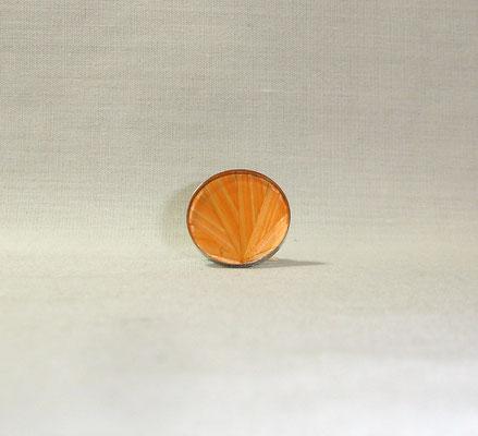 Bague paille éventail abricot (vendu)