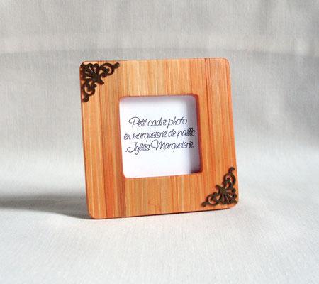 Petit porte photo abricot estampes métal  (vendu)