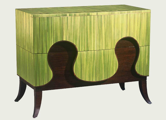 Commode « Goutte d'herbe » - Collaboration Lison de Caunes - Hubert Le Gall - © Bruno Simon et Cecil Mathieu