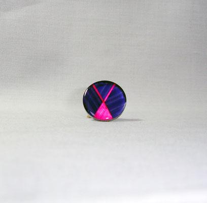 Bague bicolore paille ushia et violette (vendu)