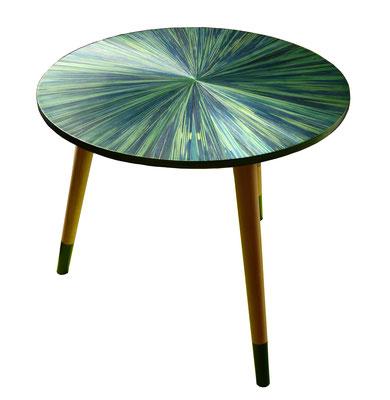 """Petite table d'appoint """"le soleil vert"""""""
