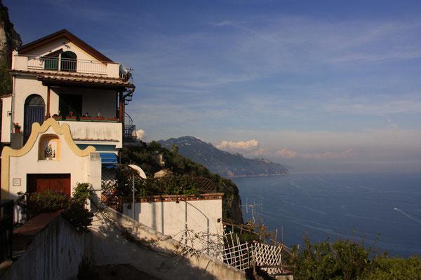 widok z naszej wioski w strone Amalfi