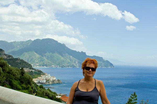 Moja Basienka w drodze do Pogerola - w glebi Amalfi