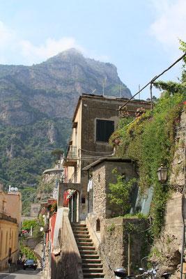 widok uliczek Positano