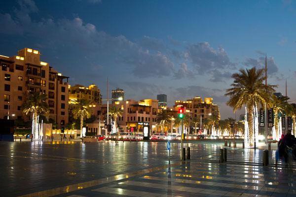Ulice Dubaju w nocy