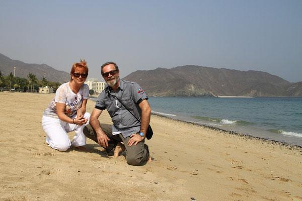 Na plazy w Fujairah