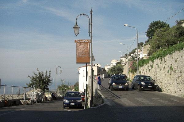 Typowy zbieg ulic w Conca dei Marini