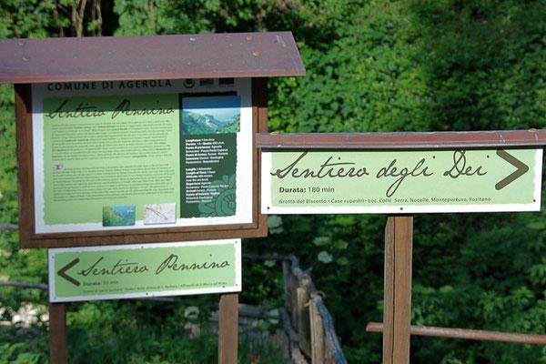 Wchodzimy na Sentiero degli Dei - szlak bogow
