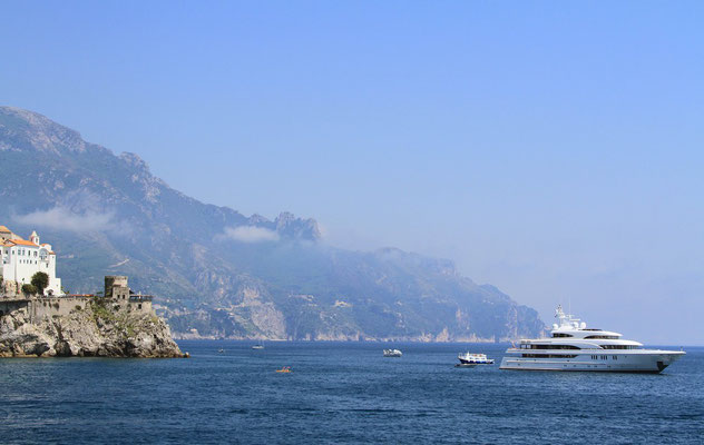 Ruch na wodzie - Amalfi