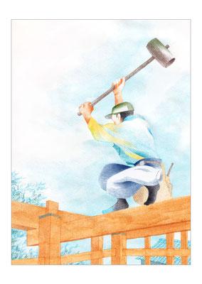 Japatora(住まい教育推進協会) 7月号 木は生きている/森久美子著 第十話「世界にひとつだけの古材」1