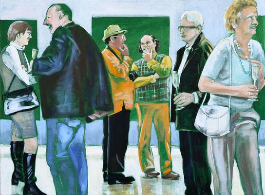 """Vernissage"", Acryl auf Leinwand, 2012, 110 x 160"