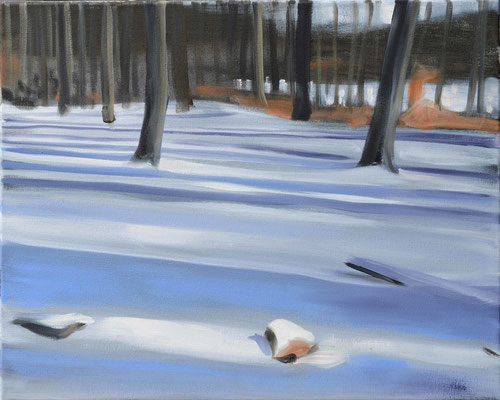 Waldstueck 4, 2016, Öl auf Leinwand, 40 x 50   (saled)