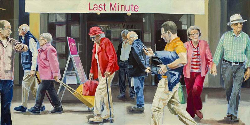 """last minute"", Acryl auf Leinwand, 2012, 110 x 220, 2tlg   (saled)"