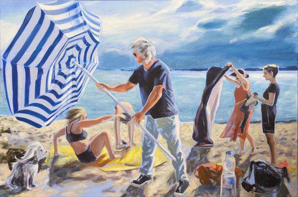 """""""kommt Regen"""", Öl auf Leinwand, 2015, 100 x 150   (saled)"""