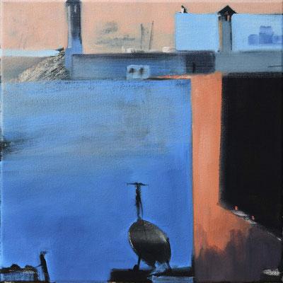 Marokko 12, 2014, Öl auf Leinwand, 30 x 30 (saled)