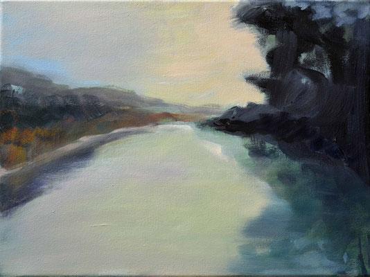 Fluß, 2017, Öla uf Leinwand, 30 x 40