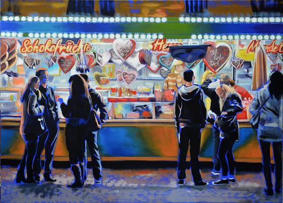 """""""Ich liebe Dich"""", Acryl auf Leinwand, 2014, 80 x 110   (saled)"""