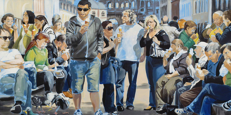 """Eis"", Acryl auf Leinwand, 2012, 110 x 220, 2tlg   (saled)"