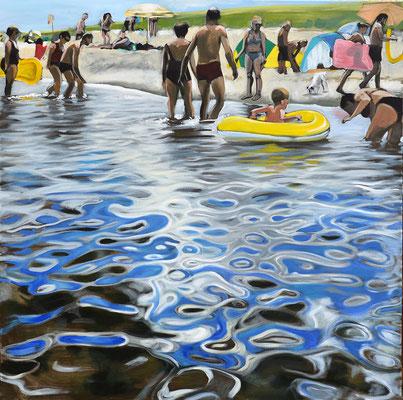 """""""Sommerfrische"""", Acryl auf Leinwand, 2013, 110 x 110   (saled)"""